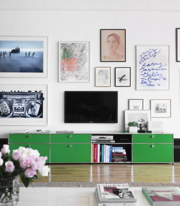 Contemporary TV on gallery wall Photo by Ragnar Omarsso via Remodelista