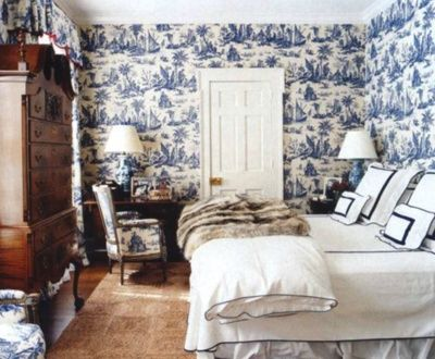 Guest Bedroom in Aerin Lauder Hamptons Home
