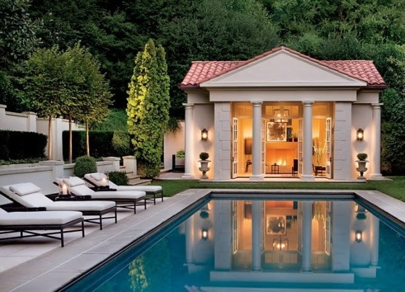 Pool House with Columns_Design Elements Blog