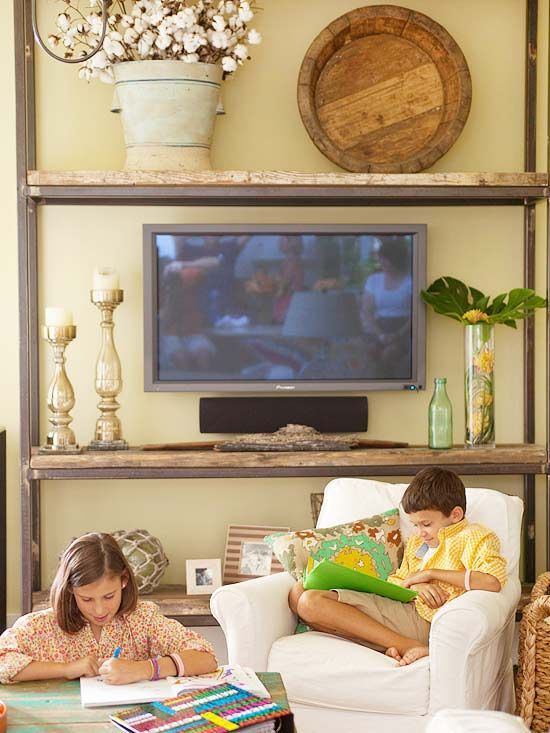TV on a shelf_Better Homes and Gardens