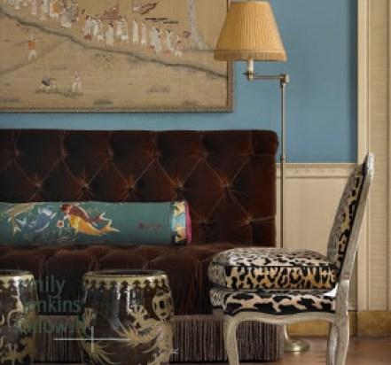 ATL Boxwood Velvet Sofa via Whitehaven