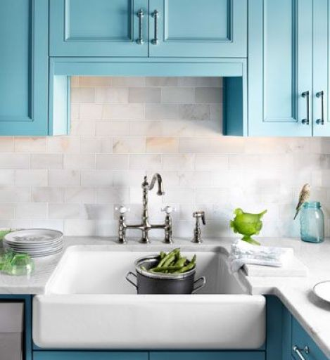 Blue and WHite Kitchen Sink by Shelia Bridges in HB
