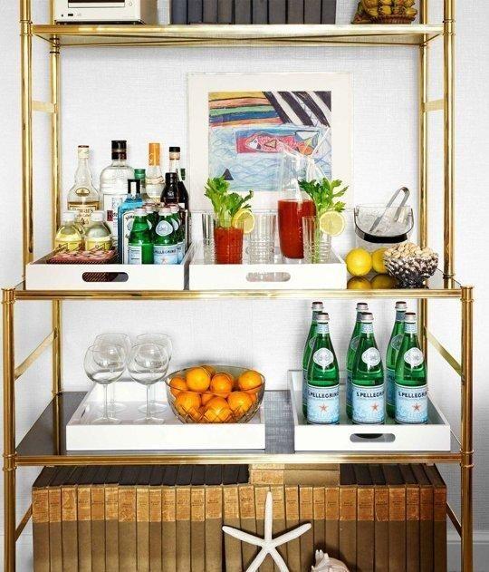 Bookshelf Bar via kitchn