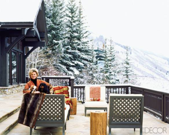 Charlotte Moss on her Aspen Patio