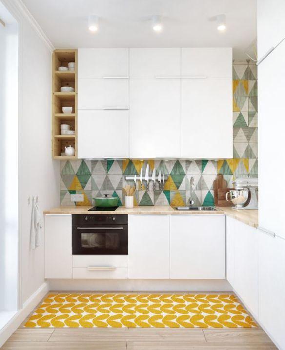 Contemporary White Kitchen via homedit
