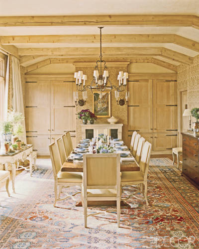 Dining Room in Charlotte Moss' Aspen Home