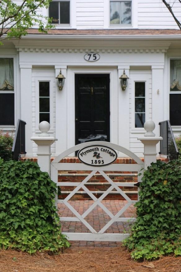 Gate with house name in Pinehurst