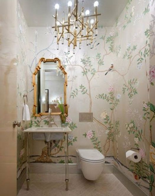 Gracie in teh powder room by Ivt de Leon Design by Shawn Henderson