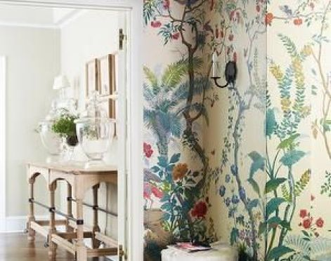 Hallway with Gracie by Suzanne McGrath Design via Decorpad