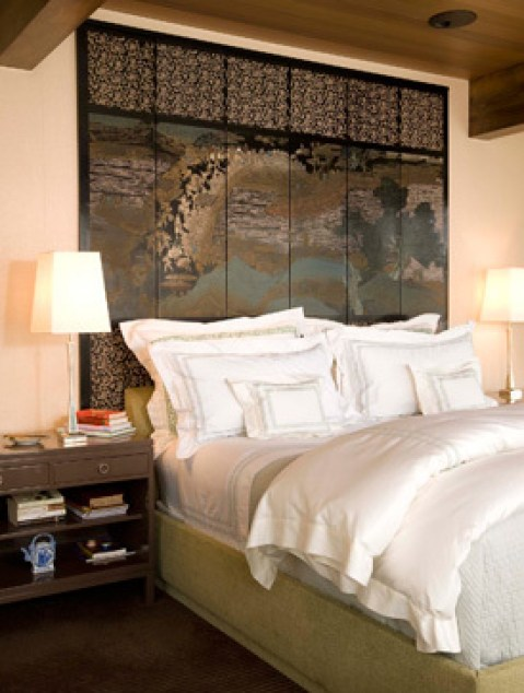 Master Bedroom with screen headboard