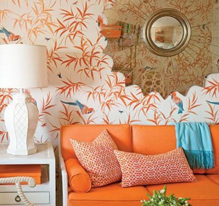 Meg Braff Orange via The Glam Pad