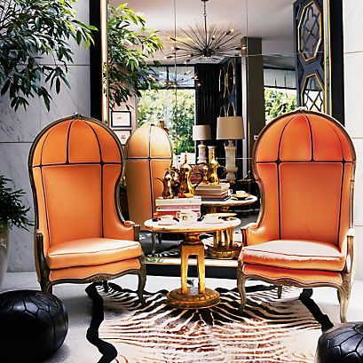 Orange Porter Chairs via Apartment Therapy