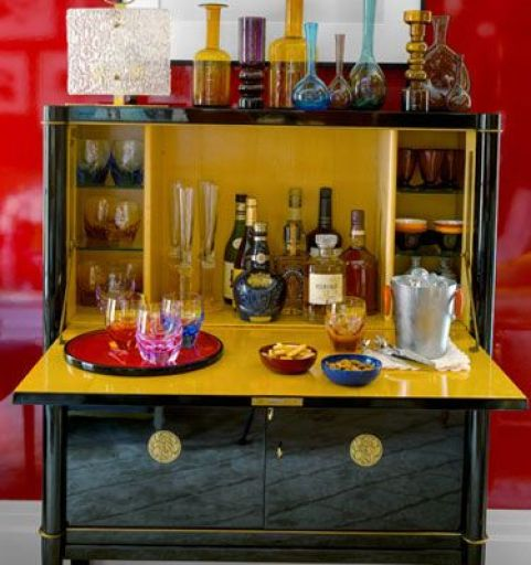 Phillip Gorrivan small nyc bar via House Beautiful