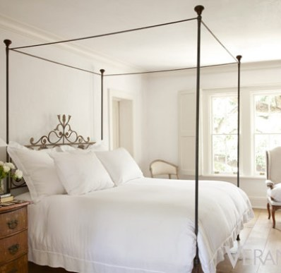 A casually elegant bedroom of Pamela Pierce's Houston home via Veranda