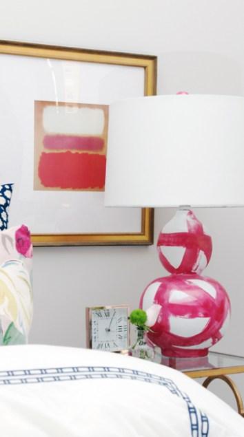 BEK Design Brushstroke Lamp in Pink