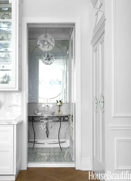 Bathroom by Kelly Giesen in Small Apartment via HB