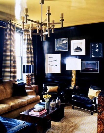 Black Laquer by Steven Gambrel via Domaine Home
