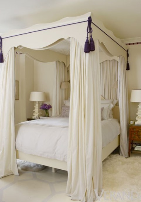 Fabulous Bedroom with Purple Tasel By Ruthie Sommers via Veranda