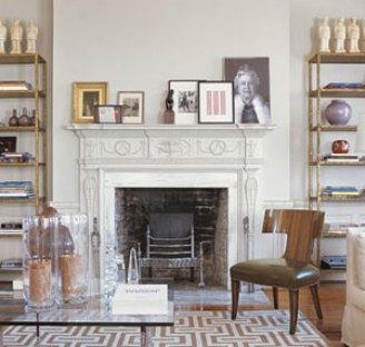 Fireplace in Charleston Home via Veranda