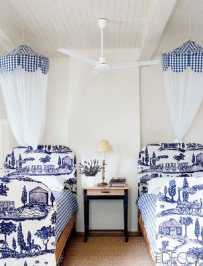Kathryn Irelands Guest Room in France via Elle Decor