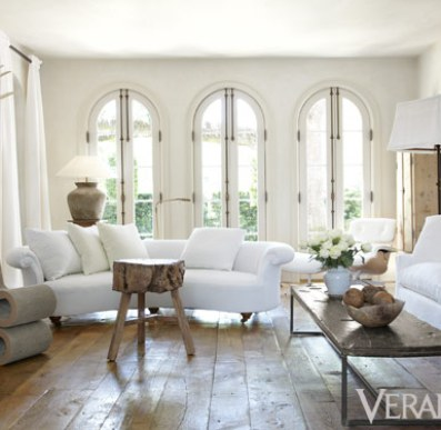 Light and White room in Pamela Pierce's Houston home via Veranda