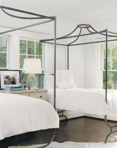 Mary Clark designed this lovely Twin Bedroom via Veranda