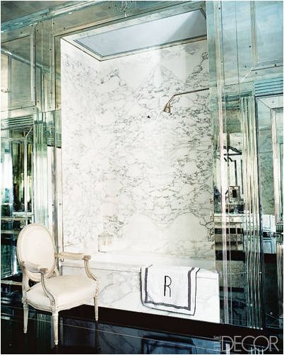 Miles Redd Mirrored Bathroom via Elle Decor