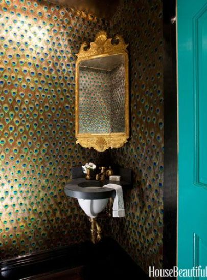 Peacock Bathroom via HB