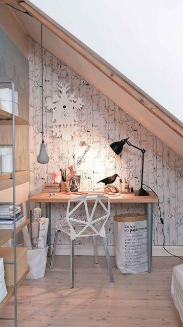 Silje Aune Eriksen Desk Nook via Elle Decoration