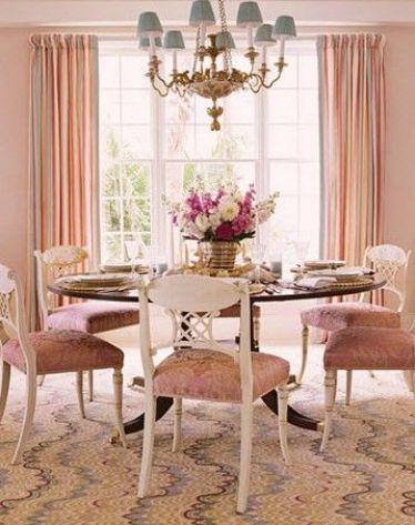 Soft pink dingin room via HC