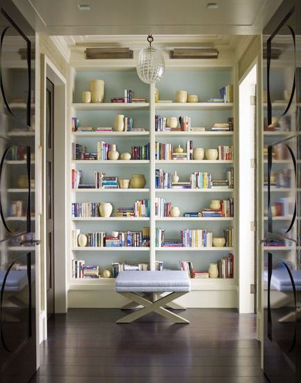 Steven Gabrel Built-In Bookshelves via Dering Hall