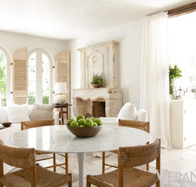 The casual dining room of Pamela Pierce via Veranda