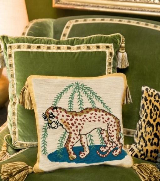 Tory Burch Needlepoint Pillows