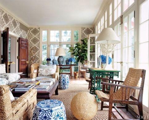 Tory Burch's Southampton Home via Vogue