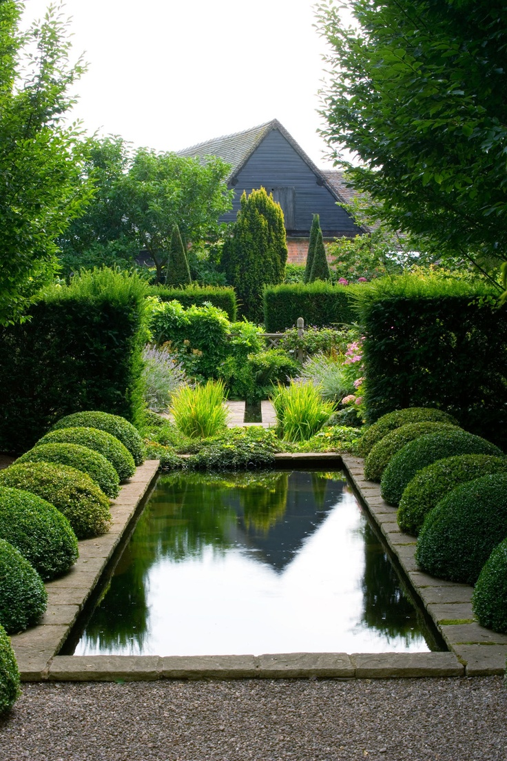 Hedge fun the potted boxwood for Pool and garden