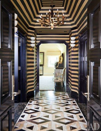 Hallway in Kelly Wearstler's Bel-Air home via AD