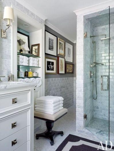 Marble Subway in this bathroom via AD