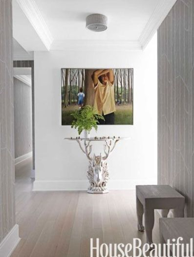 Modern Hallway in House Beautiful