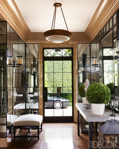 Palm Beach hallway via Elle Decor