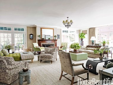 Spacious living room in this Nashville home by Markham Roberts
