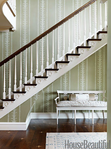 Stairway in Nashville home by Markham Roberts