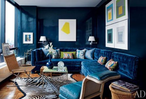 TOod Romano velvet sofa via AD