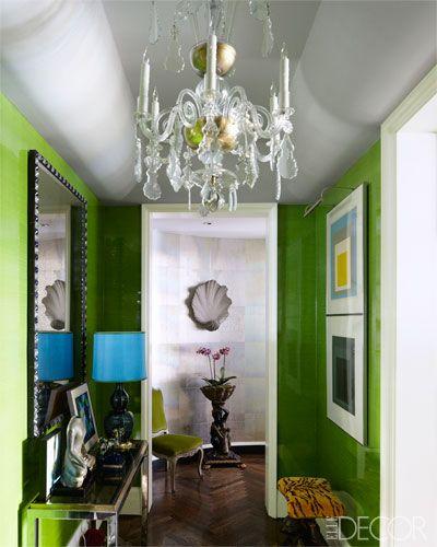 Todd Alexander Romano hallway via Elle Decor