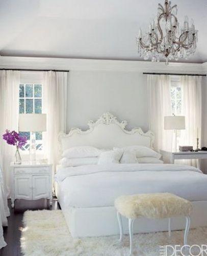 White bedroom via Elle Decor