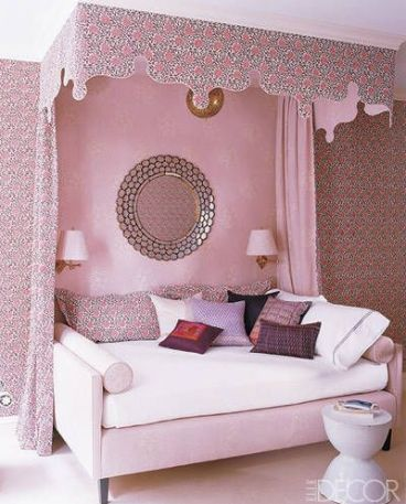 A feminine and worldly room by Katie Ridder via Elle Decor