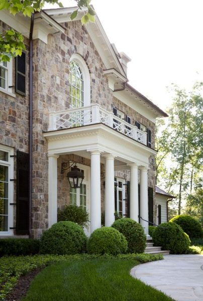 Atlanta stone home by Norman Askins via Georgianadesign
