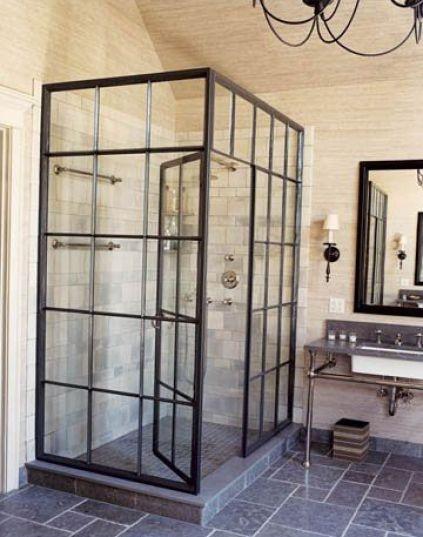 Bathroom by Jeffrey Bilhuber via House Beautiful