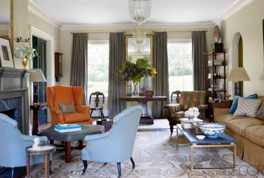 A living room in Nashville by Brookschmidy and Coleman in Elle Decor