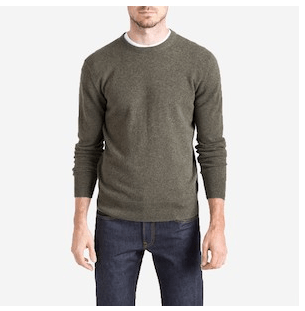 Everlane Cashmere Crew in Moss