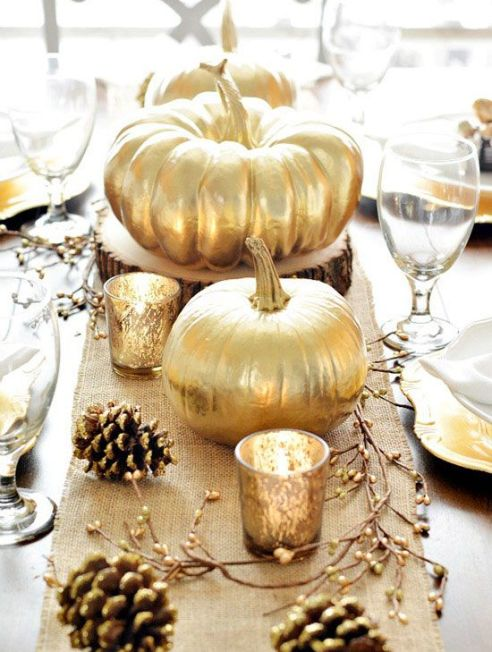Golden pumpkins via Better Homes and Gardens